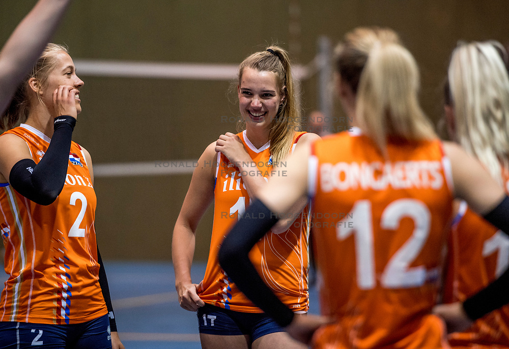 10-05-2018 NED: Training Dutch volleyball team women, Arnhem<br /> (L-R) Femke Stoltenborg #2 of Netherlands, Nicole Oude Luttikhuis #17 of Netherlands