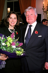 SENATOR EDWARD KENNEDY and MRS KENNEDY, at a reception in London on 9th November 2000.OIX 150