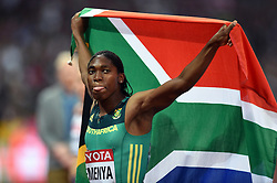 Caster Semenya of South Africa celebrates her first place finish - Mandatory byline: Patrick Khachfe/JMP - 07966 386802 - 13/08/2017 - ATHLETICS - London Stadium - London, England - Women's 800m Final - IAAF World Championships