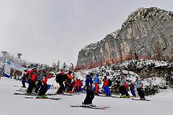 Behind the scenes, Jury inspection of downhill course at the WPAS_2019 Alpine Skiing World Championships, Kranjska Gora, Slovenia