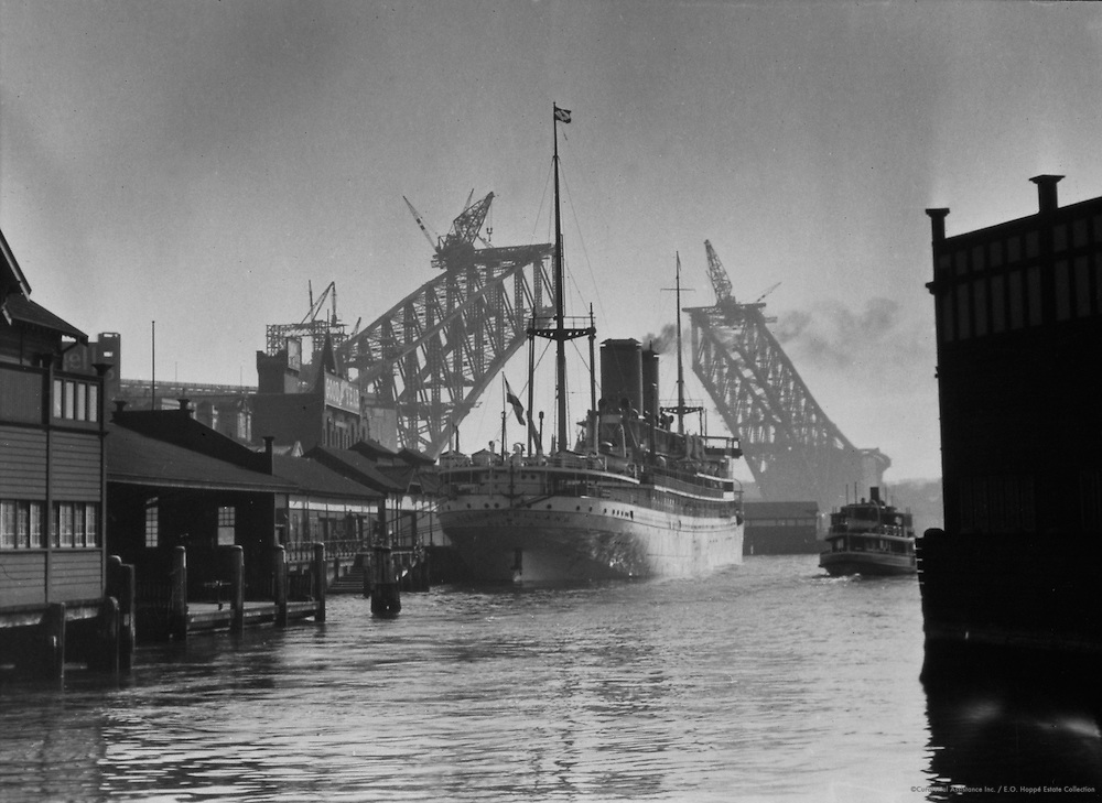 "The ""Menio Holland,"" Circular Quay, Sydney, Australia, 1930"