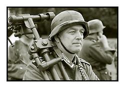 Hull Veterans Weekend John conscripted into the Mortar Crew <br /> <br /> 25-26 July 2015<br />  Image &copy; Paul David Drabble <br />  www.pauldaviddrabble.co.uk