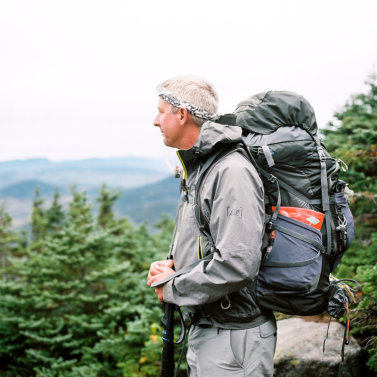 Scott taking in the views on Old Speck Mountain on the Appalachian Trail in Maine
