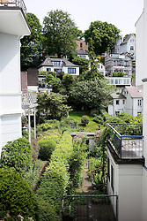 GERMANY HAMBURG 18MAY14 - Steps and alleyways to residential property in Hamburg Blankenese.<br /> <br /> <br /> <br /> jre/Photo by Jiri Rezac<br /> <br /> <br /> <br /> &copy; Jiri Rezac 2014