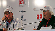 Ernesto Bertarelli and Brad Butterworth ALINGHI.Pressconference.BMW Oracle wins the America's Cup.2010 America's Cup, Valencia.©2010 Kaufmann/Forster go4image.com