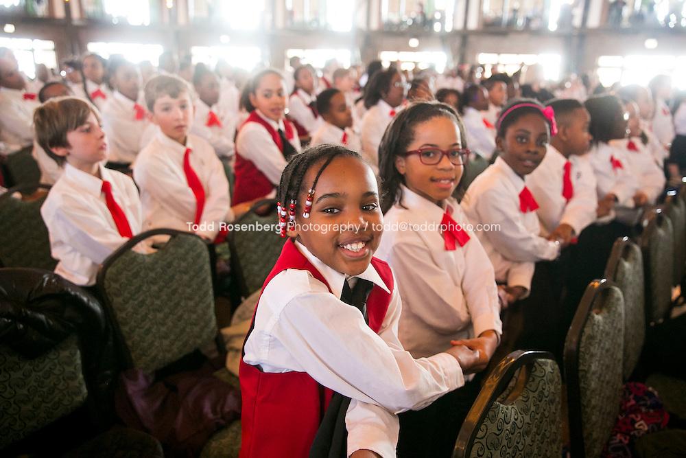 2/10/16 12:40:20 PM <br /> Chicago Children's Choir Black History Month Navy Pier Celebration. <br /> <br />  &copy; Todd Rosenberg Photography 2016