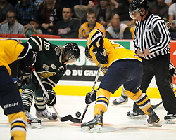 Action from Game 3 of the 2012 MasterCard Memorial Cup in Shawinigan, Quebec between the Shawinigan Cataractes and London Knights on Sunday may 20, 2012. Photo by Aaron Bell/CHL Images