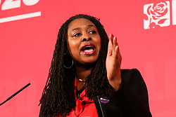 © Licensed to London News Pictures. 16/02/2020. London, UK. Labour Party deputy leadership candidate DAWN BULTER MP for Brent South and Shadow Secretary of State for Women and Equalities speaks at a hustings event hosted by the Co-operative Party held at Business Design Centre, north London. Photo credit: Dinendra Haria/LNP