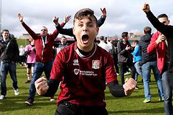 Northampton Town fans celebrate winning promotion to League One - Mandatory by-line: Robbie Stephenson/JMP - 09/04/2016 - FOOTBALL - Sixfields Stadium - Northampton, England - Northampton Town v Bristol Rovers - Sky Bet League Two