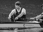 Putney, London,  Tideway Week, Championship Course. River Thames,  Oxford UBC.  5: Olivier Siegelaar, Tuesday  28/03/2017<br /> [Mandatory Credit; Credit: Peter Spurrier/Intersport Images.com ]