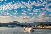 Coastal scenery day-cruise from Nachikatsuura fishing village, Kii Peninsula, Wakayama Prefecture, Japan.