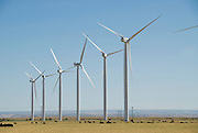 Wind farm in agricultural land in Elmore County Idaho