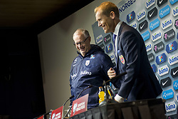 September 1, 2017 - Oslo, NORWAY - 170901 Lars LagerbÅ ck, head coach of Norway, and Svein Graff, Communications director of the Norwegian Football Association (NFF) during a press conferance after the FIFA World Cup Qualifier match between Norway and Azerbaijan on September 1, 2017 in Oslo..Photo: Fredrik Varfjell / BILDBYRN / kod FV / 150000 (Credit Image: © Fredrik Varfjell/Bildbyran via ZUMA Wire)