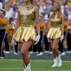 19 September 2009: A LSU Tigers Golden Girls dancer performs on the field before the start of a 31-3 win by the LSU Tigers over the University of Louisiana-Lafayette Ragin Cajuns at Tiger Stadium in Baton Rouge, Louisiana.