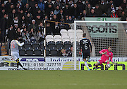 Dundee keeper keeper Scott Bain saves from St Mirren's Yoann Arquin -  St Mirren v Dundee, SPFL Premiership at St Mirren Park <br /> <br /> <br />  - &copy; David Young - www.davidyoungphoto.co.uk - email: davidyoungphoto@gmail.com