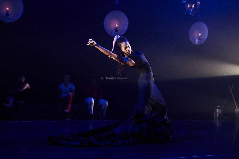 London, UK.8th June  2017. Guerreras, Wild Card by Ella Mesma At Sadler's Wells Lilian Baylis Studio.<br /> Performed By Yinka Esi Graves