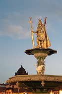 The statue of the Inca Manco Qapaq a few years ago has returned to dominate the nineteenth century iron fountain at the center of the Plaza Mayor, as if to emphasize the ancient cultural identity of the place