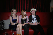 Olivia Falcon, Laura Bond and Philip Colbert . Book launch hosted by Geordie Greig for Fulfilment & Betrayal by  Naim Attallah: Bluebird, 350 King's Road, London. 1 May 2007.  -DO NOT ARCHIVE-© Copyright Photograph by Dafydd Jones. 248 Clapham Rd. London SW9 0PZ. Tel 0207 820 0771. www.dafjones.com.