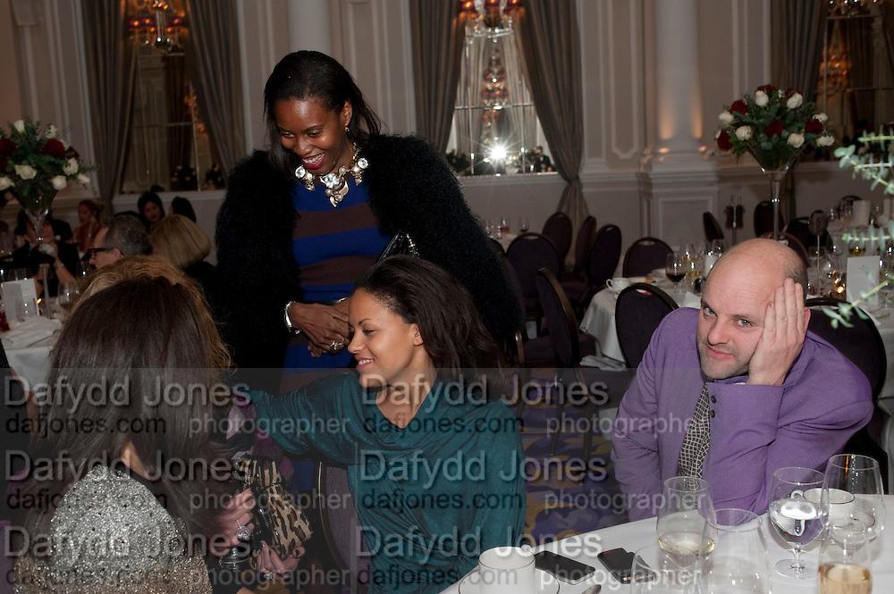 Daniella Issa Helayel; Susan Bender; Rachael Barrett; Gavin Turk, Liberatum 10th Anniversary dinner in honour of Sir Peter Blake. Hosted by Pable Ganguli and Ella Krasner. The Corinthia Hotel, Whitehall. London. 23 November 2011.