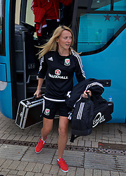 CARDIFF, WALES - Friday, August 19, 2016: Wales' team doctor Charlotte Fairweather arrives at Rodney Parade ahead of the international friendly match against Republic of Ireland at Rodney Parade. (Pic by David Rawcliffe/Propaganda)