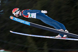 15.12.2013, Nordische Arena, Ramsau, AUT, FIS Nordische Kombination Weltcup, Skisprung, im Bild Christoph Bieler (AUT) // during Ski Jumping of FIS Nordic Combined .World Cup, at the Nordic Arena in Ramsau, Austria on 2013/12/15. PhotoCredit: EXPA/ Erwin Scheriau