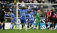 Photo: Paul Greenwood/Sportsbeat Images.<br />Wigan Athletic v Blackburn Rovers. The FA Barclays Premiership. 15/12/2007.<br />Wigan's Paul Scharner (L) runs away in celebration after scoring
