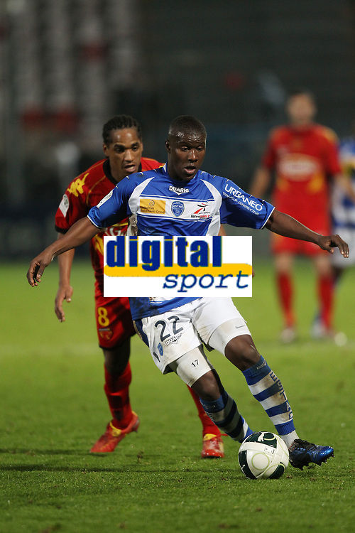 FOOTBALL - FRENCH CHAMPIONSHIP 2010/2011 - L2 - LE MANS FC v ES TROYES - 06/12/2010 - PHOTO ERIC BRETAGNON / DPPI - DIALLO GUIDILEYE (TROYES)