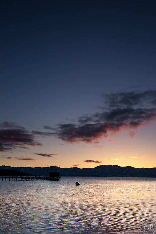 """Sunrise at Lake Tahoe 3"" - This sunrise was photographed in Tahoe City, Lake Tahoe."