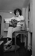 Donovan backstage at Secret Policemans Ball