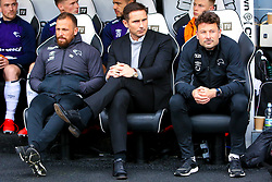 Derby County manager Frank Lampard sits in the dug outs - Mandatory by-line: Ryan Crockett/JMP - 11/05/2019 - FOOTBALL - Pride Park Stadium - Derby, England - Derby County v Leeds United - Sky Bet Championship Play-off Semi Final 1st Leg