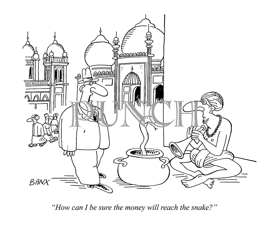"""How can I be sure the money will reach the snake?"""