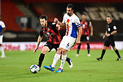 Harry Arter (18) of AFC Bournemouth battles for possession with Luka Milivojevic (4) of Crystal Palace during the EFL Cup match between Bournemouth and Crystal Palace at the Vitality Stadium, Bournemouth, England on 15 September 2020.
