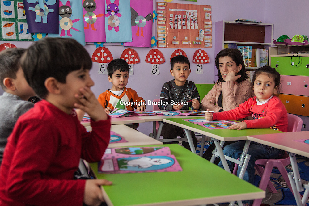 DIYARBAKIR, TURKEY. FEBRUARY 22, 2013 Young students in Diyarbakir. The creche only teaches in Kurdish, something which was banned until recently in Turkey.