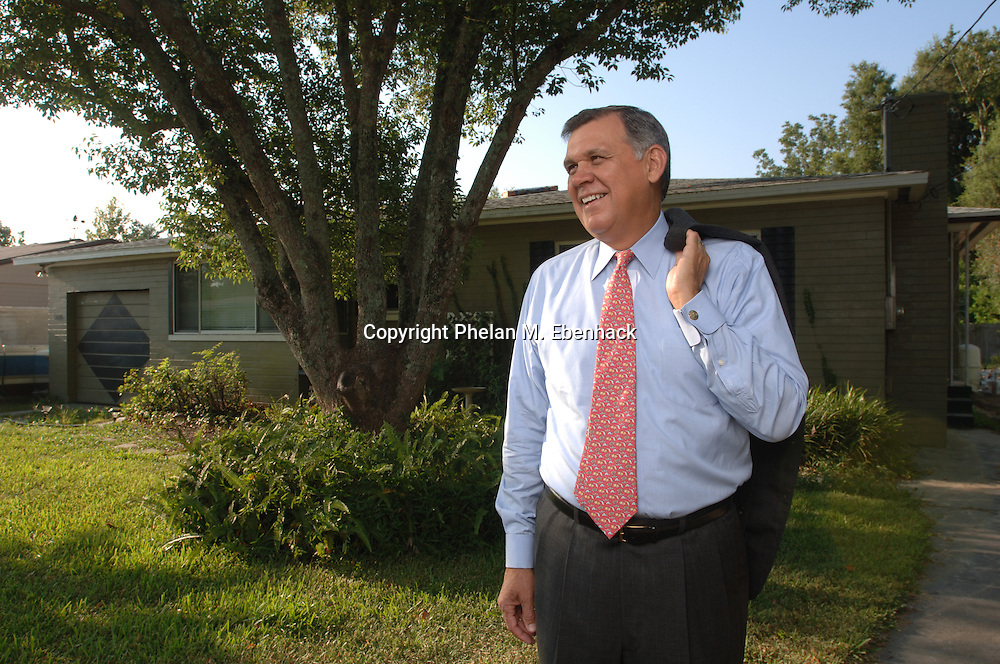 U.S. Senator Mel Martinez, a Repubican from Florida, stands outside his childhood home in Orlando, Florida.  Born in Cuba, Sen. Martinez came to the U.S. in 1962 as part of a Roman Catholic humanitarian effort called Operation Peter Pan, which brought into the U.S. more than 14,000 Cuban Children.  He lived in this Orlando home with a foster family until being reunited with his family in 1966.