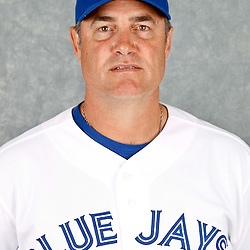 March 2, 2012; Dunedin, FL, USA; Toronto Blue Jays manager John Farrell (52) poses for a portrait during photo day at Florida Auto Exchange Stadium.  Mandatory Credit: Derick E. Hingle-US PRESSWIRE