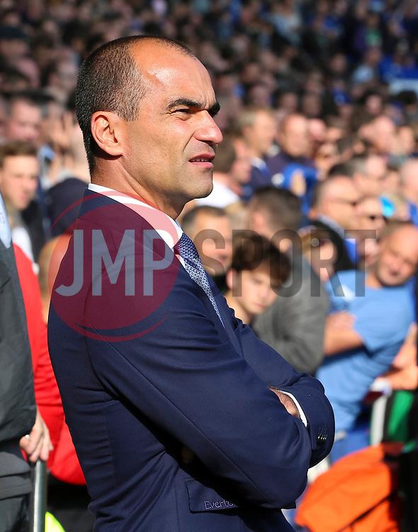 Everton Manager, Roberto Martinez  - Mandatory byline: Matt McNulty/JMP - 07966 386802 - 04/10/2015 - FOOTBALL - Goodison Park - Liverpool, England - Everton  v Liverpool - Barclays Premier League
