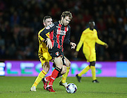 AFC Bournemouth striker Brett Pitman during the Capital One Cup match between Bournemouth and Liverpool at the Goldsands Stadium, Bournemouth, England on 17 December 2014.