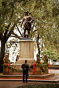 Statue of Gen. James Oglethorpe in Oglethorpe Square Savannah, GA