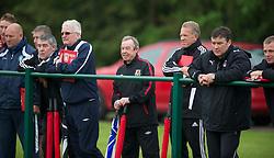 CARDIFF, WALES - Saturday, May 19, 2012: Brian Flynn and Alan Curitis during an FAW Coaching course at the Glamorgan Sports Park. (Pic by David Rawcliffe/Propaganda)