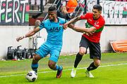 NIJMEGEN- 07-05-2017, NEC - AZ,  Stadion De Goffert, AZ speler Fred Friday, NEC Nijmegen speler Wojciech Golla