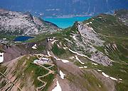Postkarte A6: Berghotel Faulhorn, Sägistalsee und Brienzersee (3592)