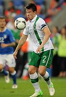 Fotball<br /> EM 2012<br /> 18,06.2012<br /> Italia v Irland<br /> Foto: Witters/Digitalsport<br /> NORWAY ONLY<br /> <br /> Sean St Ledger (Irland)<br /> Fussball EURO 2012, Vorrunde, Gruppe C, Italien - Irland 2:0