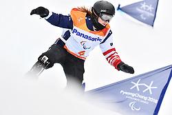 ROUNDY Nicole USA competing in ParaSnowboard, Snowboard Banked Slalom at  the PyeongChang2018 Winter Paralympic Games, South Korea.