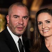 NLD/Amsterdam/20171012 - Televizier-Ring Gala 2017, Jeroen van Koningsbrugge en partner Marie-Claire Witlox
