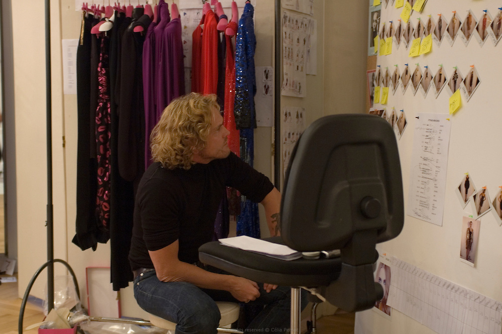 designer Peter Dundas, on the last day before the fashion show during the ultimate fittings