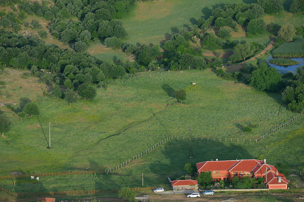 The Wild Farm, Flight shots over the Arda river canyon, Dolni Glavanak village, Madzharovo, Eastern Rhodope mountains, Bulgaria
