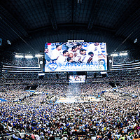 ARLINGTON, TX - APRIL 07: The Connecticut Huskies during the NCAA Men's Final Four title game against the Kentucky Wildcats at AT&amp;T Stadium on April 7, 2014 in Arlington, TX.<br /> Ben Solomon/American Athletic Conference