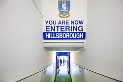 General View in the tunnel at Hillsborough - Rogan/JMP - 18/11/2017 - Hillsborough Stadium - Sheffield, England - Sheffield Wednesday v Bristol City - Sky Bet Championship.
