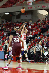 03 March 2013:  Katy Winge during an NCAA Missouri Valley Conference (MVC) women's basketball game between the Missouri State Bears and the Illinois Sate Redbirds at Redbird Arena in Normal IL