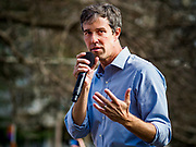 "06 APRIL 2019 - DES MOINES, IOWA: BETO O'ROURKE talks to supporters at a ""House Party"" campaign event in Des Moines. O'Rourke held a series of ""house parties"" in Des Moines Saturday as a part of his 2020 campaign to be the Democratic nominee for the US Presidential election. He is crisscrossing Iowa through the weekend with stops throughout the state. Iowa holds its caucuses, considered the kickoff of the US Presidential campaign, on Feb. 3, 2020.    PHOTO BY JACK KURTZ"